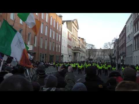 Irish Water Protest at Leinster House 10-12-2014