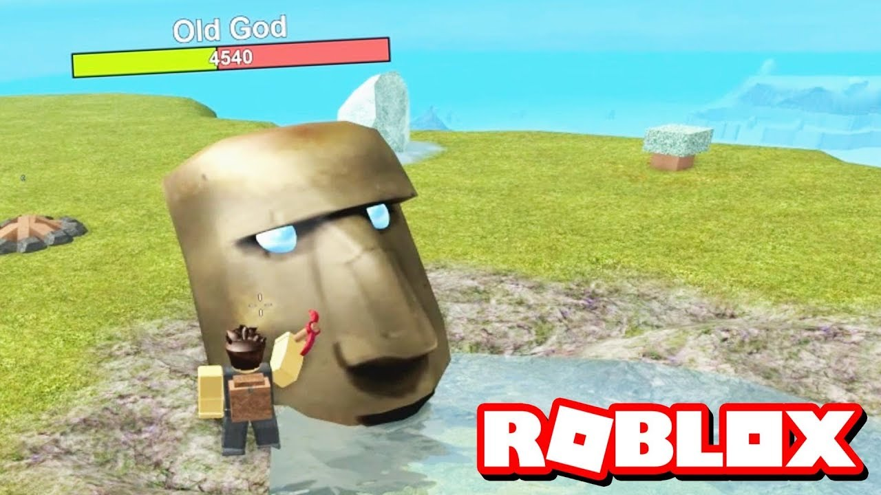 Defeating The Old God Roblox Booga Booga Youtube