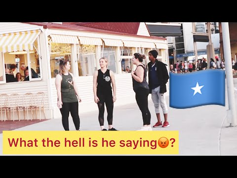 SPEAKING SOMALI TO WHITE PEOPLE PRANK *CONFUSED* thumbnail