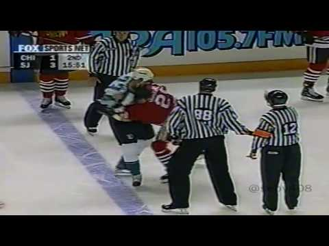 San Jose Sharks vs Chicago Blackhawks | October 4, 1999 |  Fight filled game