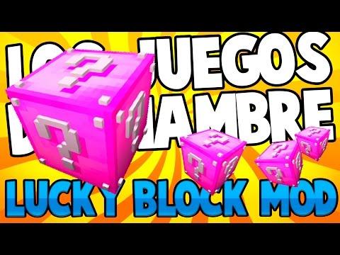 MINECRAFT: LOS JUEGOS DEL HAMBRE LUCKY BLOCK MOD - Mini juego customizado #1