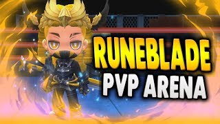FIRST LOOK AT MAPLE STORY 2 PVP ARENA | RUNEBLADE PVP GAMEPLAY