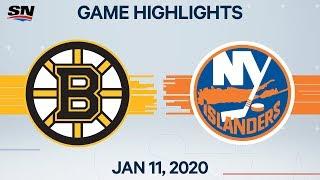 NHL Highlights   Bruins vs Islanders - Jan. 11, 2020