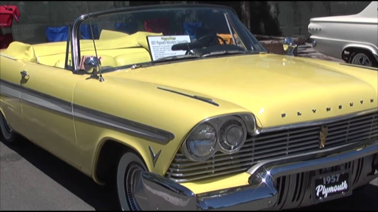 Hot August Nights 1957 Plymouth Belvedere Convertible Youtube