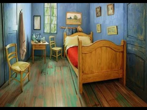 intimate with van gogh artists bedroom recreated for airbnb rentals