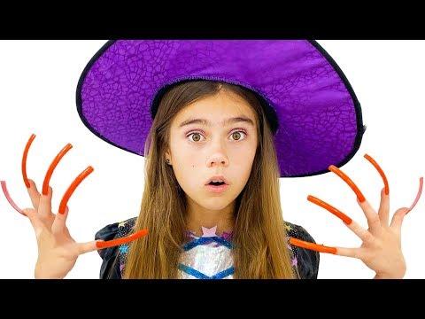 Nastya mengumpulkan permen untuk Halloween - video untuk anak anak