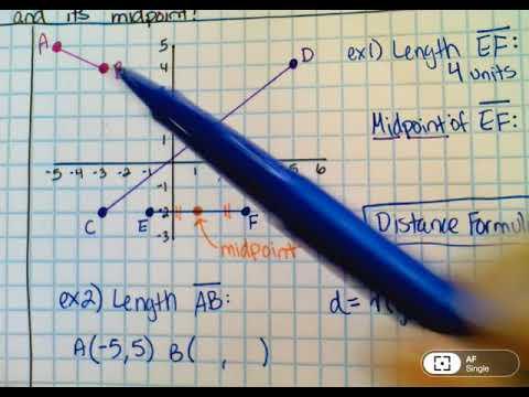 1 1B   Distance Formula and Midpoint Formula