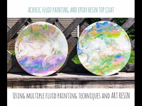 How to add Epoxy resin Clear Coat  / Resin Art / Painting Vinyl/ Acrylic Pouring