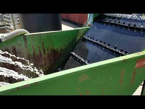 50 Cu. Ft. Mild Steel Prewash Tank With Inclined Belt Conveyor - Stock # C736561