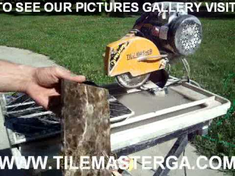 HOW TO MAKE BULLNOSE - ROUND EDGE BLADE STONE MARBLE tile installation atlanta