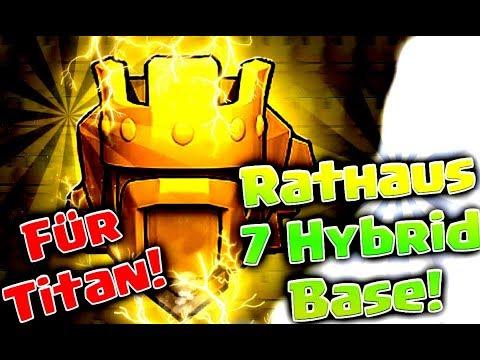 TH 7 Hybrid Base 2017 for Titan    Beste Hybrid Base RH 7    Clash of Clans deutsch