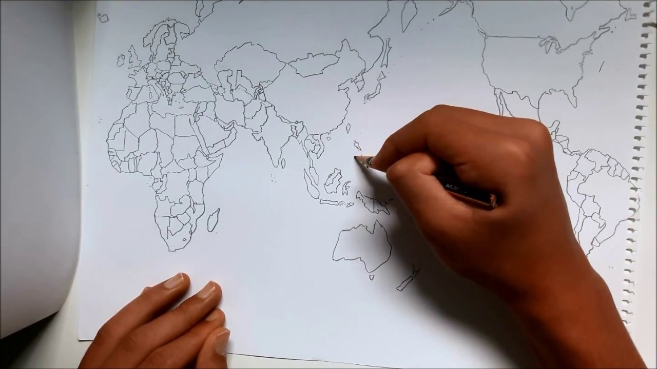 World map drawn freehand by memory youtube world map drawn freehand by memory gumiabroncs Image collections
