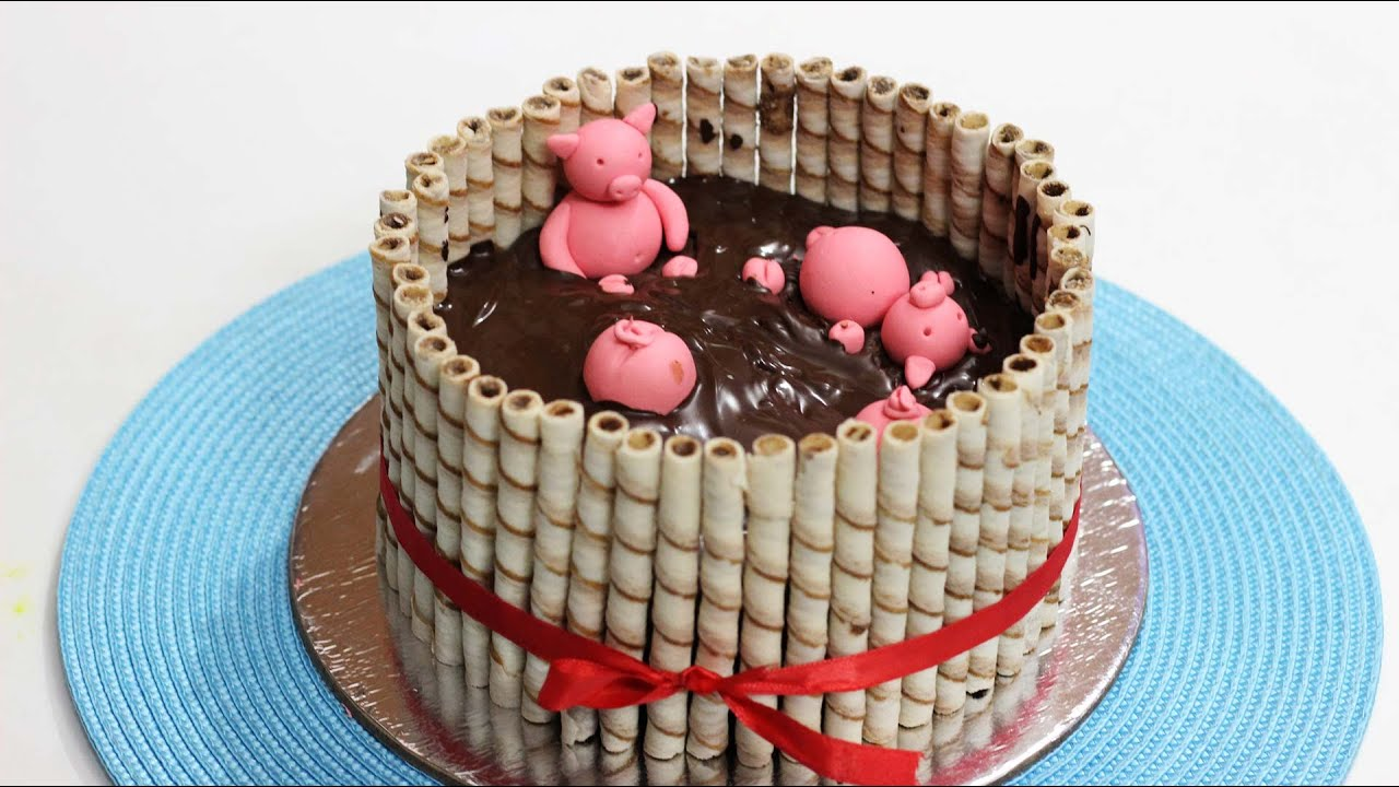 Pigs In Mud Cake Cake Idea For Kids Party By