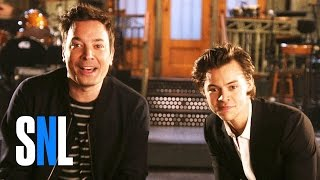 SNL Host Jimmy Fallon and Harry Styles Snap to It