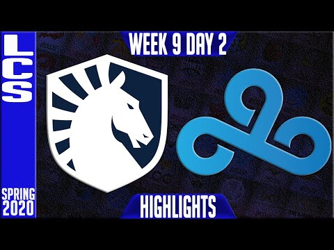 TL vs C9 Highlights   LCS Spring 2020 W9D2   Team Liquid vs Cloud9