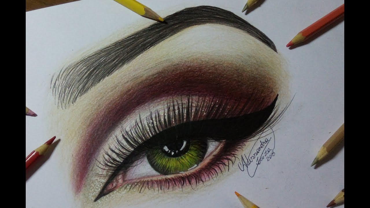 Olho Com Maquiagem Desenho Makeup Youtube
