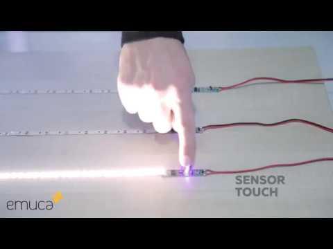 sensori per strisce led touch e di movimento youtube. Black Bedroom Furniture Sets. Home Design Ideas