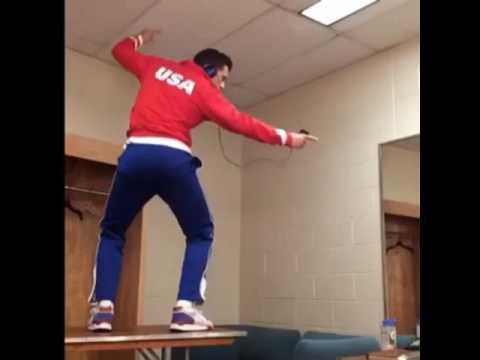Sebastian Stan dancing