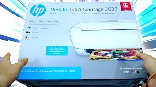 HP DeskJet 3636 All-in-One Ink Advantage Wireless Colour Printer UNBOXING and OVERVIEW!
