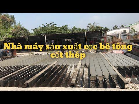 Kho Tư liệu Xây dựng - Toàn cảnh nhà máy sản xuất cọc bê tông cốt thép tại Huyện Hóc Môn