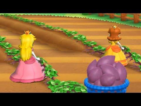 Mario Party 9 - Garden Battle - Peach vs Daisy Master CPU | Cartoons Mee