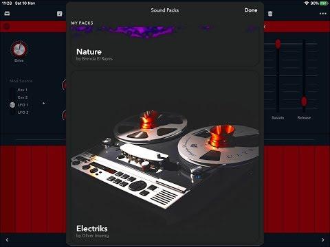 Reason COMPACT - New IAPs ELECTRIKS & NATURE - Full Pack Demos - iPad