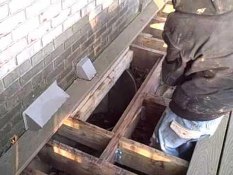 Window well drains prevent water pouring  in basement windows basement waterproofing.wmv Aquaproof