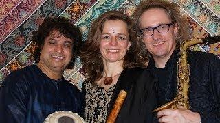 Raga Bhoopali - Jugalbandi Bansuri & Saxophone, Tabla, live p.2/4 Drut Teental