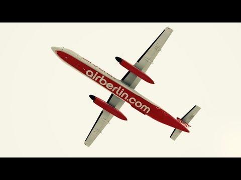 Airberlin Dash 8 takeoff at San Diego International Airport. Infinite Flight. ATC