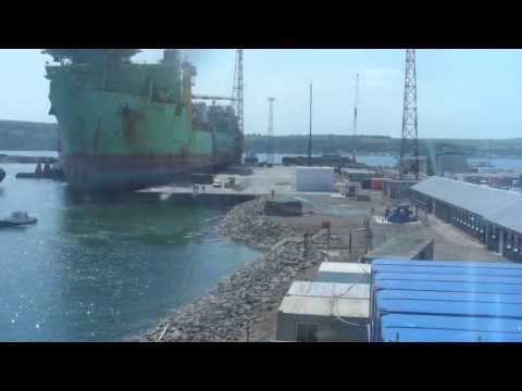 FPSO Haewene Brim entering Nigg yard (time lapse)