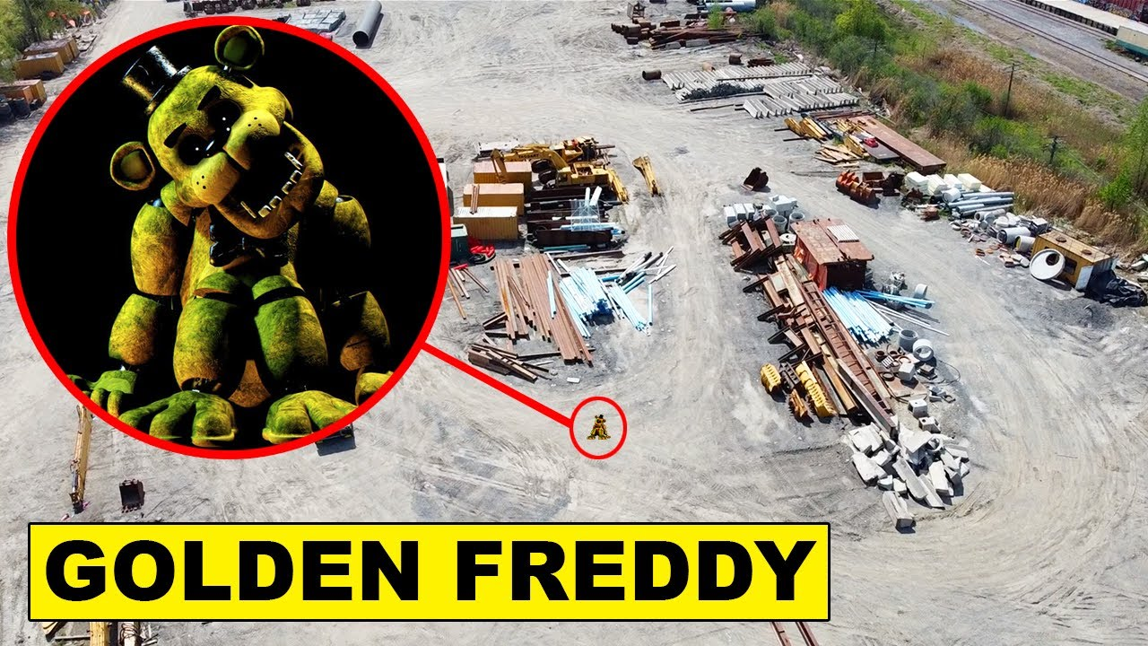 Download DRONE CATCHES GOLDEN FREDDY AT ABANDONED JUNKYARD | FIVE NIGHTS AT FREDDYS IS REAL?!