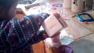 Little Girl Making Honey Milk.3GP