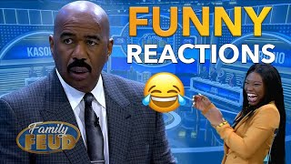 Funny Reactions! Steve Harvey is Hilarious | Family Feud Africa