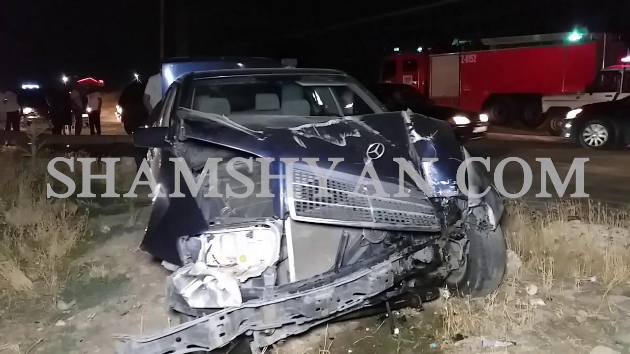 Խոշոր ավտովթար Կոտայքի մարզում. Mercedes-ը բախվել է բետոնե էլեկտրասյանը և տապալել այն