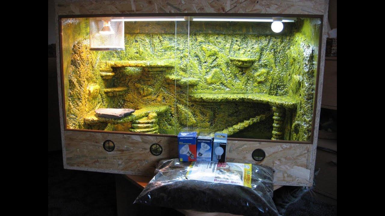 Baudoku kornnatter terrarium youtube - Terrarium ruckwand selber bauen ...