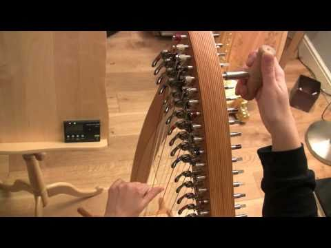 How to tune your harp with electronic tuner part 1