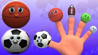 Спортивный бал | Палец семьи песня | Потешки | Songs For Kids | Sports Ball Finger Family Song