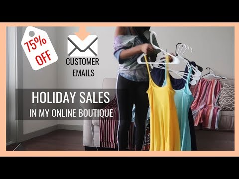 HOLIDAY SALES PREP in My Online Boutique | SALES, EMAILS, VENDORS, AND SHOPIFY MESS UPS... thumbnail