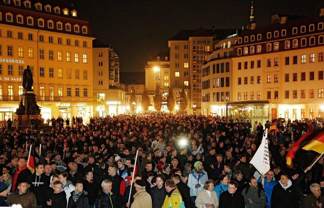 "LIVE: Pegida rally against ""dangers of Islamism"" after ...  LIVE: Pegida ra..."