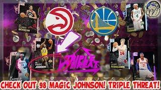 Magic Johnson Before Rob Pelinka & Jeanie Buss Betrayed Him! TRIPLE THREAT NBA 2K19 MyTeam Gameplay