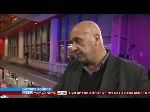 BBC World News outside source talking Syria aid