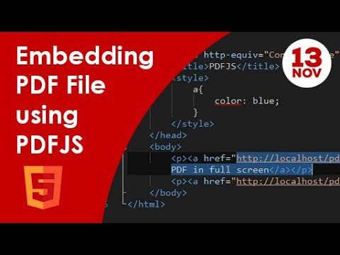How To Embed A PDF File In A Web Page Using PDFJS