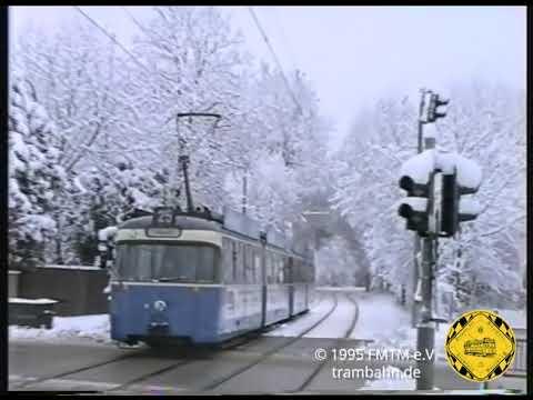 Trambahnwinter auf der Grünwalder Strecke