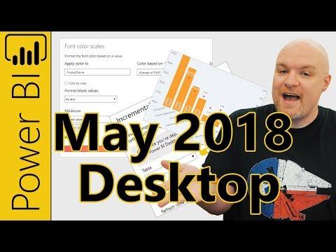 Power BI Desktop Update - May 2018