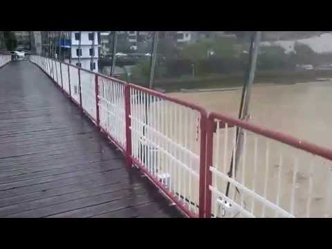 Taiwan Typhoon Soudelor Live Broadcast Floods Taipei Rivers 2015-08-08