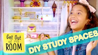 4 Amazing DIY Study Space Ideas For Your Room!   | Get Out Of My Room | Universal Kids