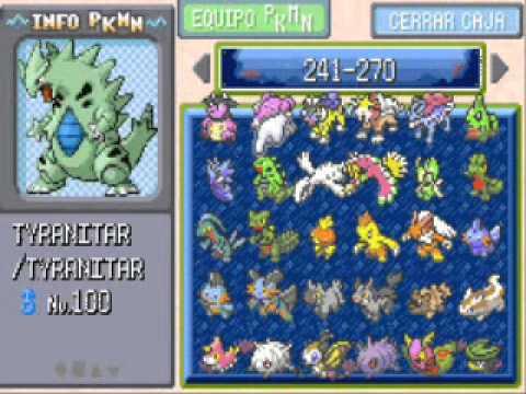 Pokedex Completa del todo en Pokemon Rojo Fuego