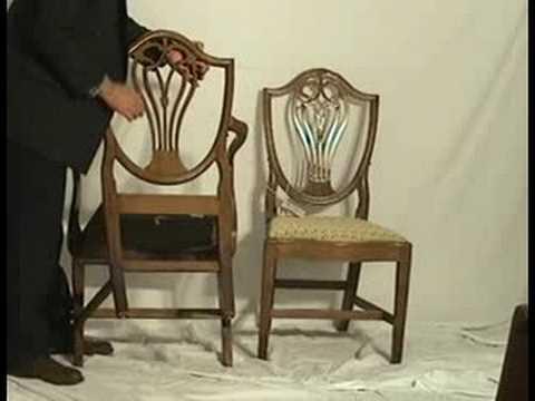 Pair of Hepplewhite Mahogany Dining Chairs  mi93