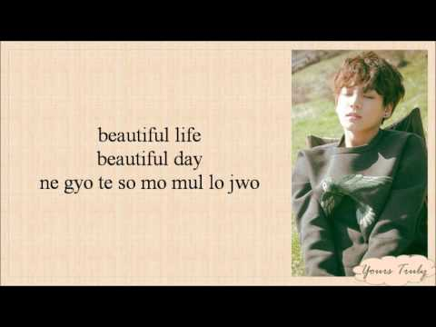 BTS (방탄소년단) Jungkook - Beautiful (Goblin OST Cover) Easy Lyrics