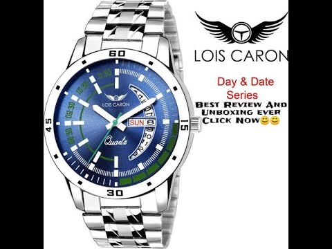 75826d3ad4f LOIS CARON LCS-8075 Blue Dial Day Watch unboxing and Review - YouTube